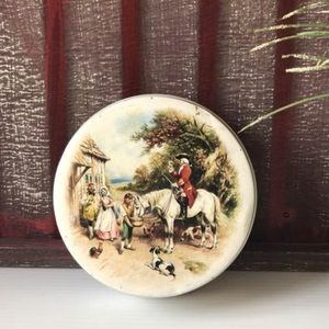 🌸Riley's Toffee Soldier Tin, Vtg Horse Collector